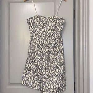 J. Crew sz 8 floral strapless dress